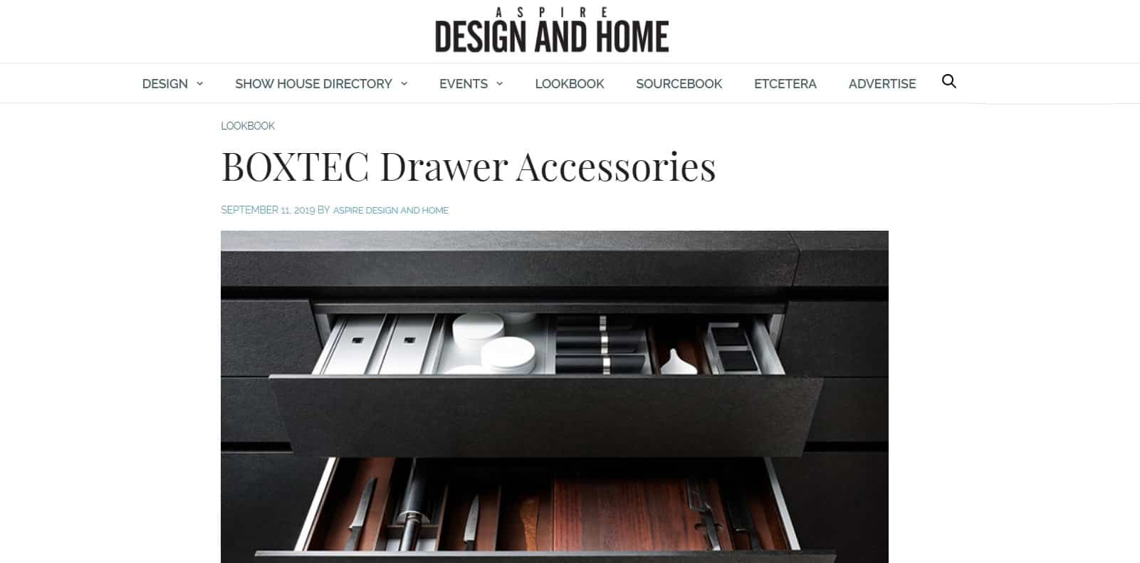 BoxTec Featured in Aspire Design & Home