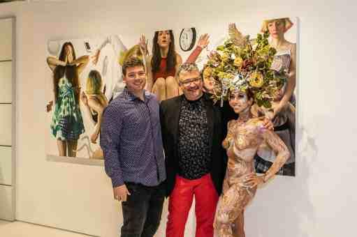artist bruno surdo at the rndd gallery walk 2019