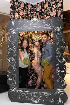 guests in photo booth in the eggersmann kitchens chicago showroom during the rndd gallery walk 2019