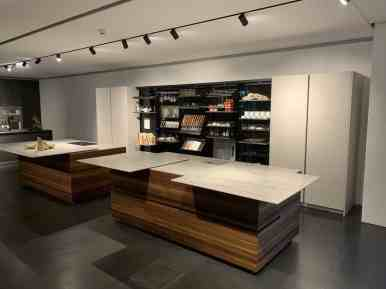 eggersmann factory tour interlink bronze with smoked larch open cabinetry