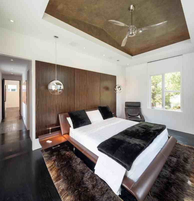 master bedroom of a houston new construction home