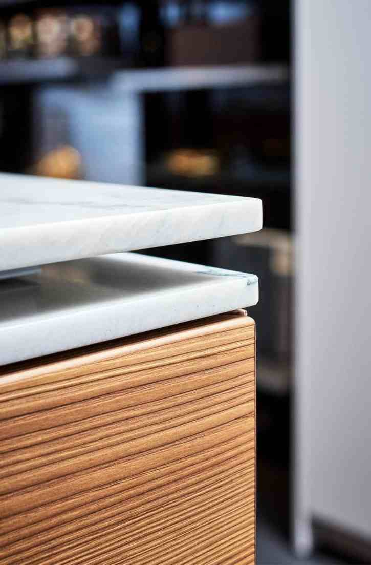 closeup of eggersmann MOTION sliding countertop corner