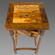 Lamp Table - Spalted Maple top