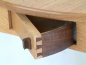 Handcut dovetail spin drawer....