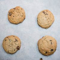 Gluten Free Oatmeal Chocolate Chip Cookies with Currants