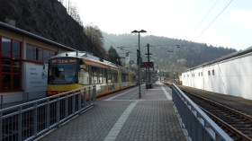 Après 2 h 20 de voyage, arrivée dans un tortillard à Forbach im Schwarzwald, vers 9 h 45.