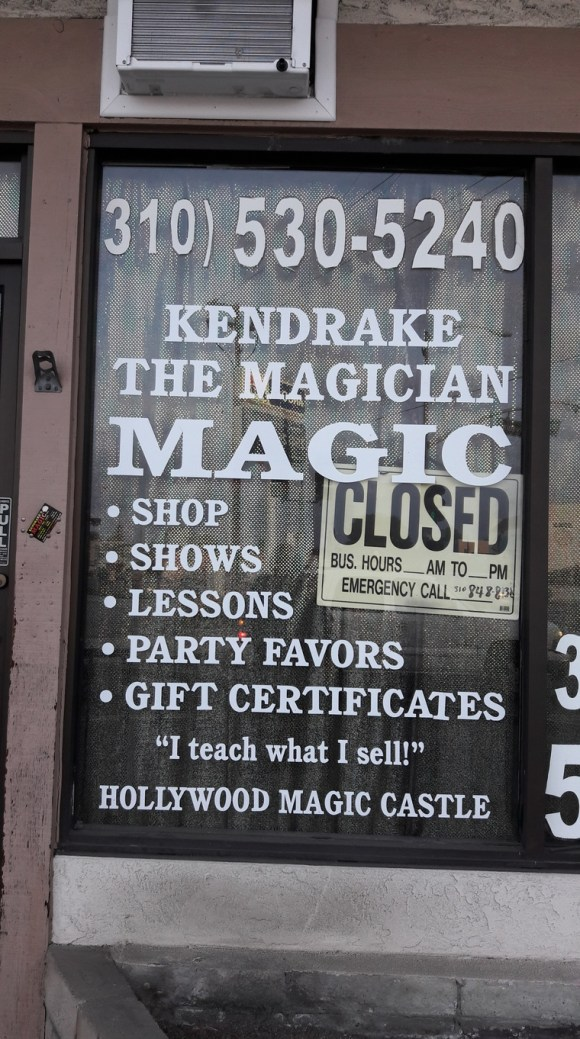 Kendrake's Magic Shop à Lomita (agglomération de Los Angeles).