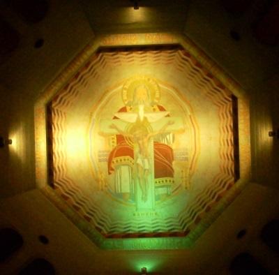 fresque du dome de la nef basse (© Jean Luc Guillemot).