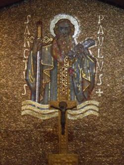La mosaïque de saint Paul dans la crypte (© Jérôme Bohl).