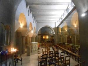 Vue du bas-côté sud (gauche) Chapelle de la Sainte Famille (© Jérôme Bohl).