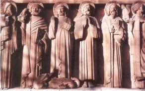 Apôtres coté gauche du tympan