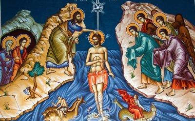 18 janvier et 19 janvier – fête de la Théophanie, Baptême de notre Seigneur Jésus Christ. Grande bénédiction des eaux.