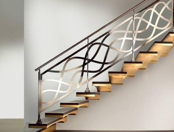 modelos de escada inox