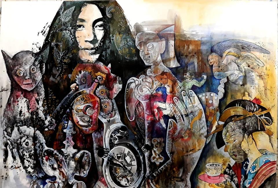 Renacimiento de la utopia Yoko Ono, Fluxus y Vanguardias. 70x50cm. 2019