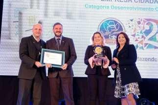 Prêmio foi entregue no último dia 20 - Foto: Divulgação