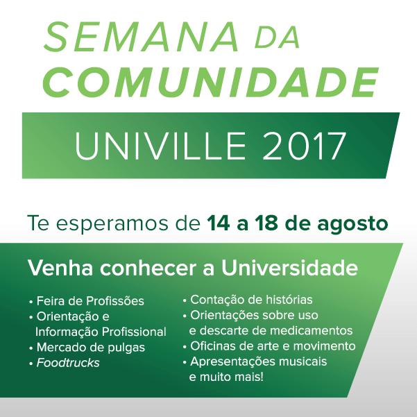 Univille - Foto Divulgação