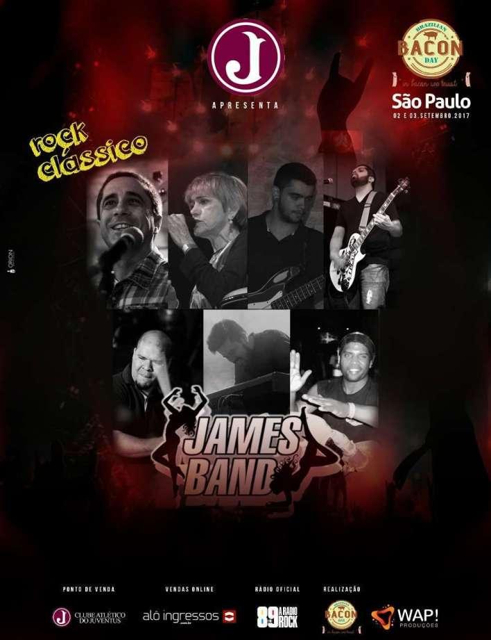 Foto reprodução Internet: Rock Classico James Band 03 de Setembro
