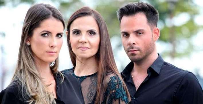 Carina Beduschi, Diogo Lemos e a decoradora Rita Lemos-Foto: Vanessa Pinho