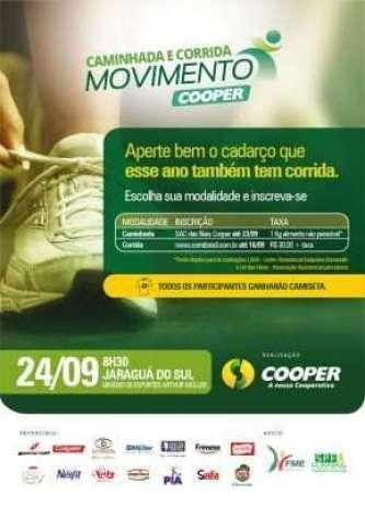Flyer- Cooper promove caminhada e corrida - Divulgação