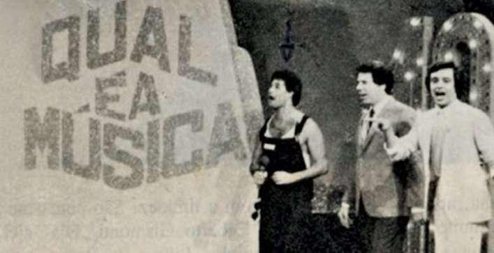 Foto: Reprodução internet- Sergio Mallandro, Silvio Santos e Nahim no Qual é a Música na TVS