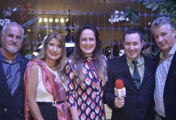 Tadeu Ribeiro, Jô Ribeiro, Priscila Menim, Reinaldo Dutra e Pedro Menim - Foto: Alvaro Talaia