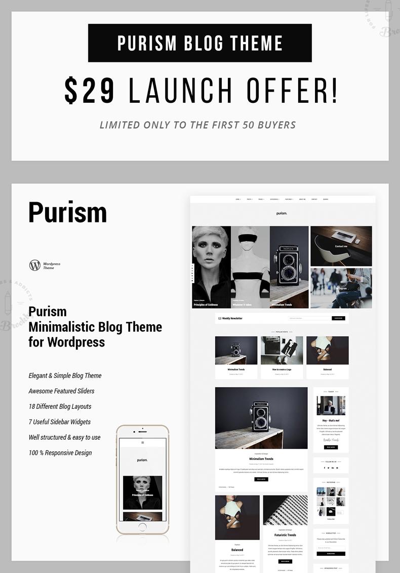 Purism - WordPress Blog Theme - 4