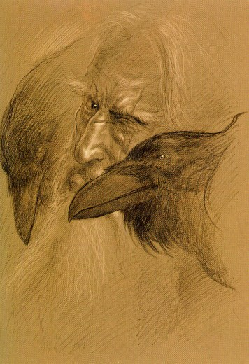john_howe_beowulf_hugin and munin