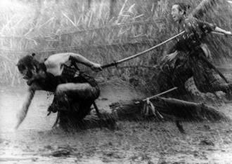 film-les-sept-samourais-Pluie