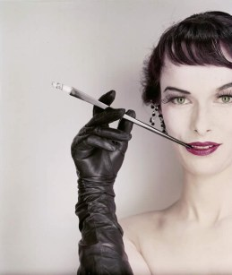 Glove by Superb and cigarette holder