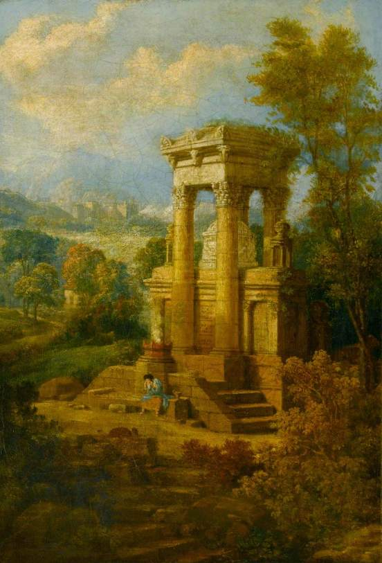 Gandy, Joseph Michael, Classical Composition, a Tomb, Sir John Soane's Museum