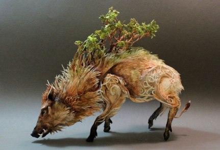 Ellen Jewett, Natural History Surrealist Sculpture, Sanglier