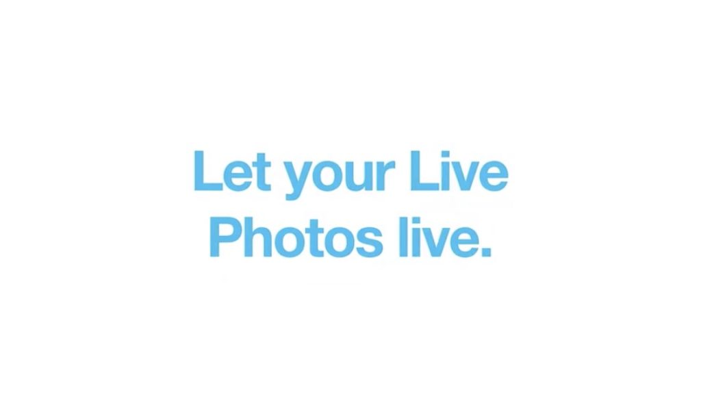 Let your Live Photos live.