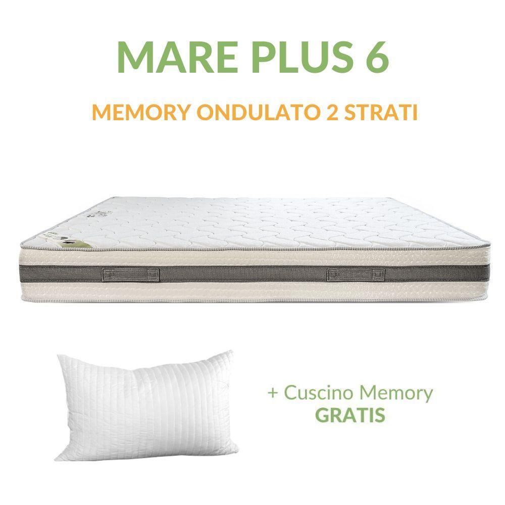 Il materasso ha una struttura portante interna composta da 6 strati: Materasso Memory Ortopedico A Onda 6cm H24 Mare Plus 6 Evergreenweb Materassi Beds