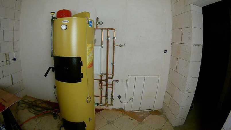 Защита твердотопливных котлов от перегрева с помощью радиатора отопления