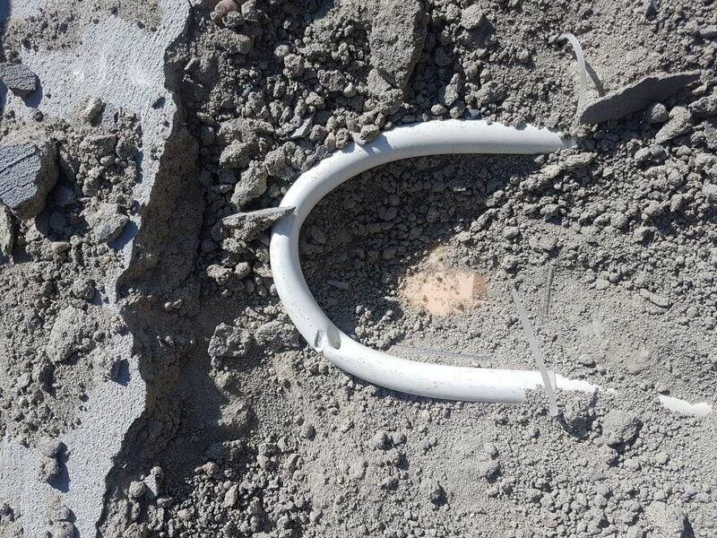 Повреждённая труба водяного теплого пола