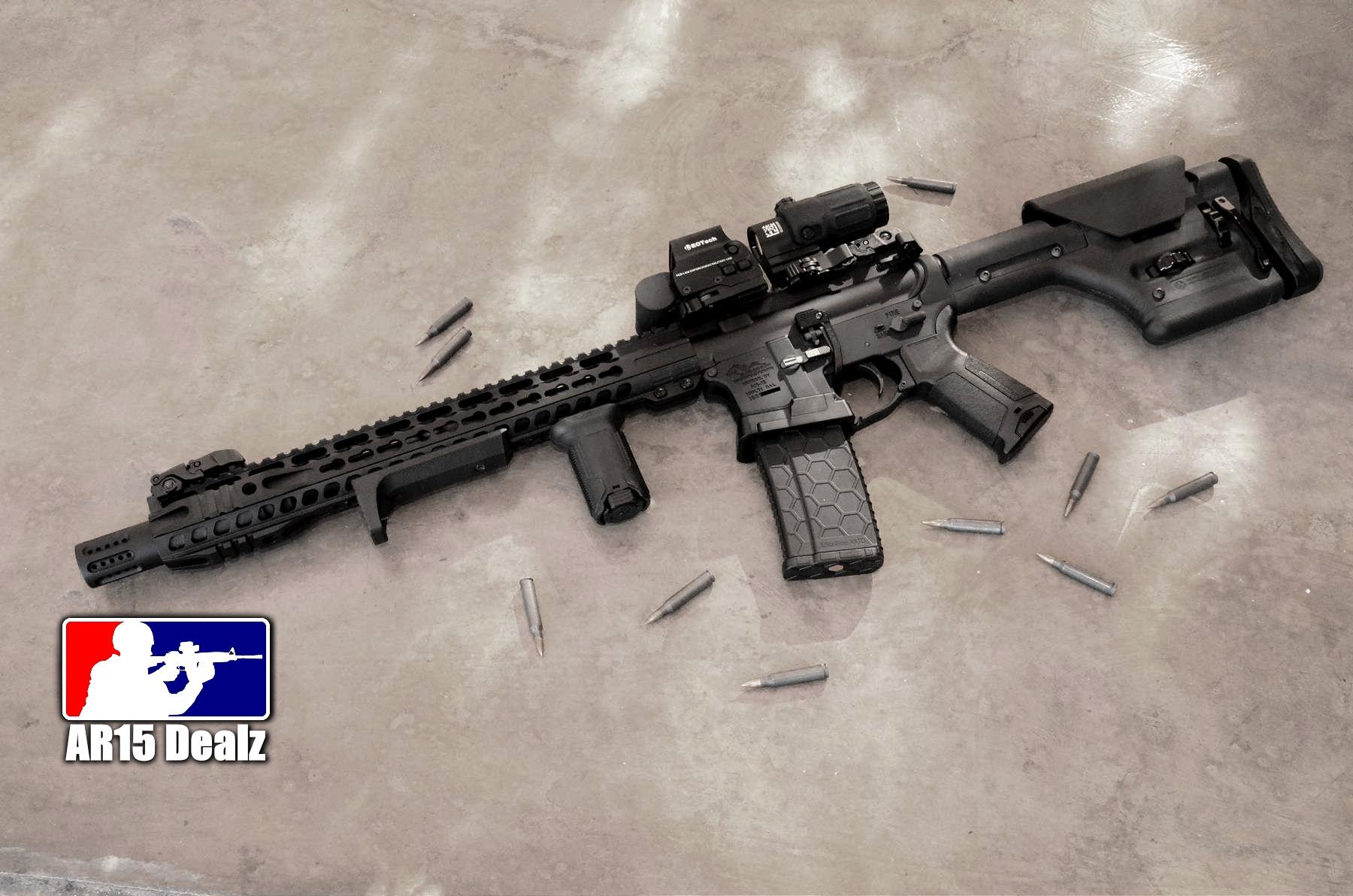 Custom Ar15 Rifle Fully Decked Out Ar 15 223 556 Hera Arms