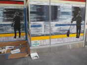 Mural at SF Transit Center Opening Weekend