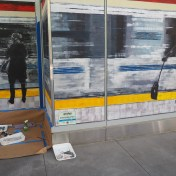 Mural at SF Transit Center Opening Weekend