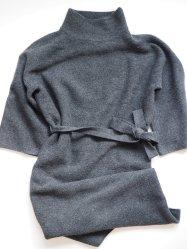 Long-Sleeve Belted Sweater Dress Black Prologue, Target