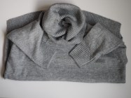 Slouchy Garter- Stitch Turtleneck Sweater Gray Old Navy