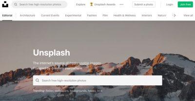 【CSS】unsplash.com|CSSのサンプルを作る時のサンプル用画像に便利なストックフォトサイト