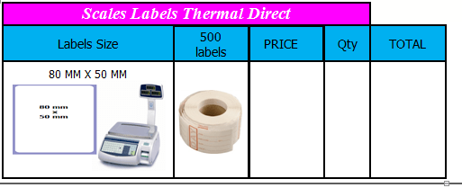 SCALES BARCODE LABELS (6)