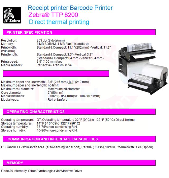 Zebra® TTP 8200