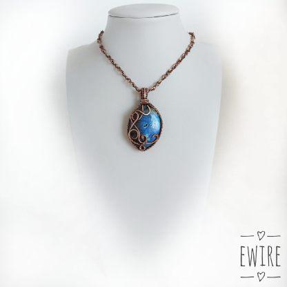 ásvány ékszer kék labradorit drótmedál
