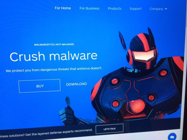 """Seriously look at this dude. EEEEYYYYYY. We have decided that """"Crush Malware"""" is Robot Fonzie's name, not a description of what Malwarebytes does, and want to see him popping up when the program has something to say. """"CRUSH MALWARE HAS A BAD FEELING ABOUT THIS FILE, LADY BUTTERPANTS!"""" Ideally with gloriously monotone text-to-speech that you can laugh at, and turn off."""