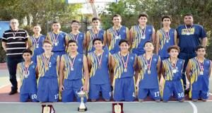 فريق نادى الجزيرة لكرة السلة تحت 14 سنة