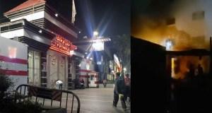 حريق بالمجمع الطبي بمسجد الحامدية الشاذلية بجوار نادي الزمالك