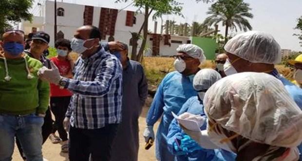 حصر المخالطين لمصابي فيروس كورونا في مصنع العاشر من رمضان