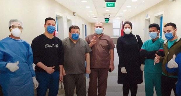 مصابي فيروس كورونا في مستشفي العزل