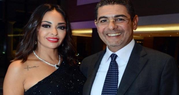 داليا البحيري وزوجها رجل الأعمال حسن سامي